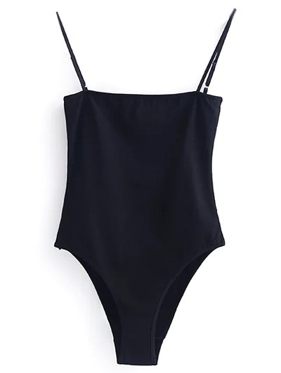 Camisole Bodysuit - BLACK S Mobile