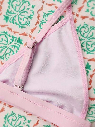 Tiny Unlined String Bikini Set - PINK L Mobile