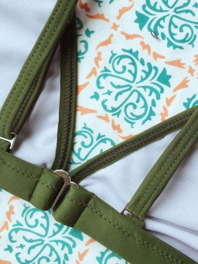 Tiny Unlined String Bikini Set - ARMY GREEN L Mobile