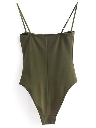 Camisole Bodysuit - ARMY GREEN S Mobile