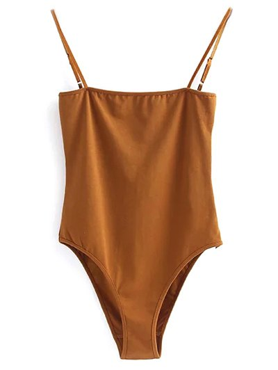 Camisole Bodysuit - GOLD BROWN S Mobile