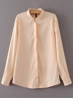 Satin Boyfriend Shirt - Yellowish Pink