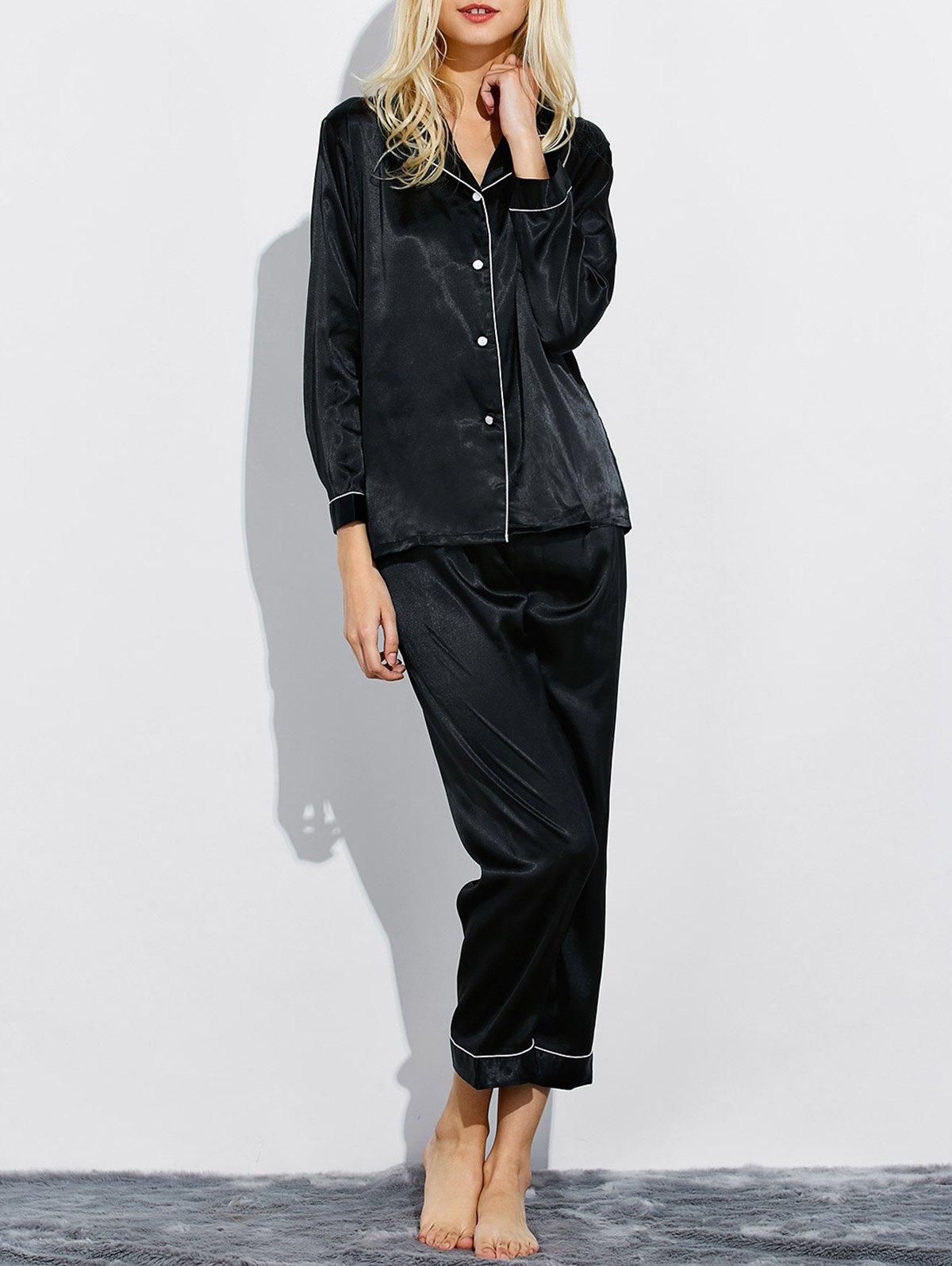 Silk Fitting Nightwear Pajamas