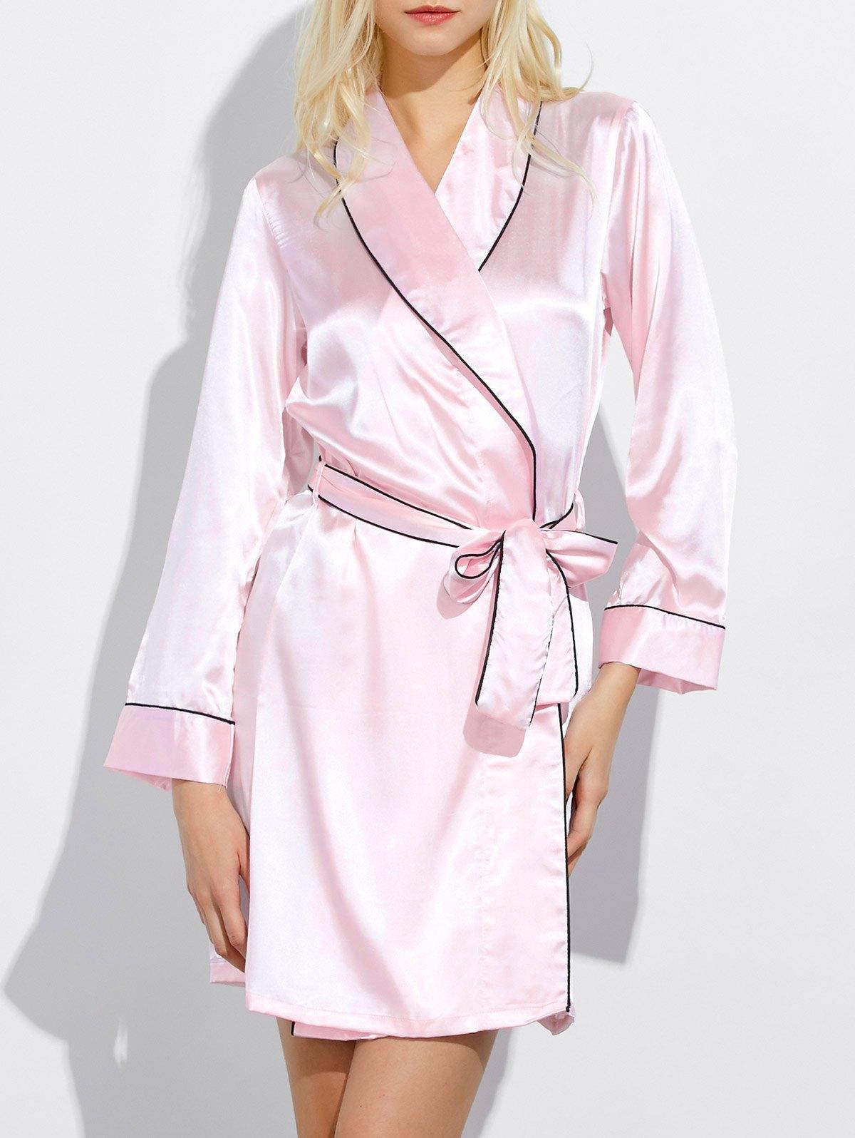 Bowknot Wrap Sleep Robe