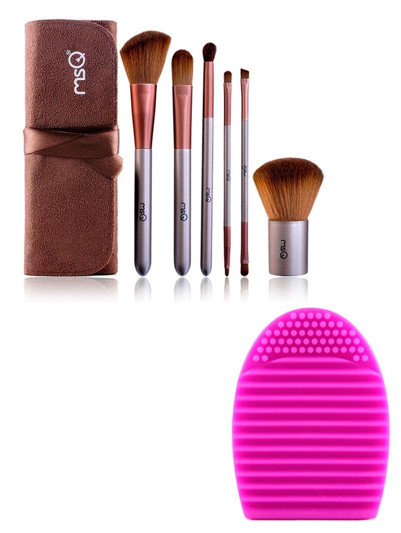 6 pcs Makeup Brushes Kit + Brush Egg