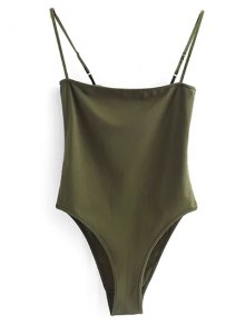 Camisole Bodysuit - Army Green S