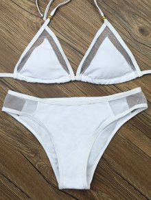 Voile Panel See-Through Bikini Set