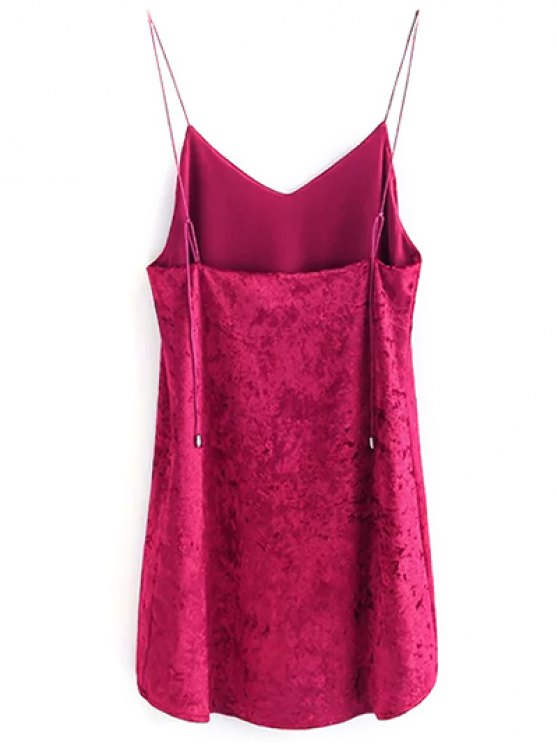 Crushed Velvet Cami Dress - ROSE S Mobile