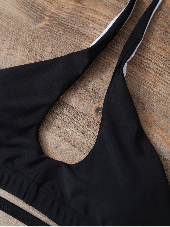 Halter Padded Bikini - BLACK M Mobile