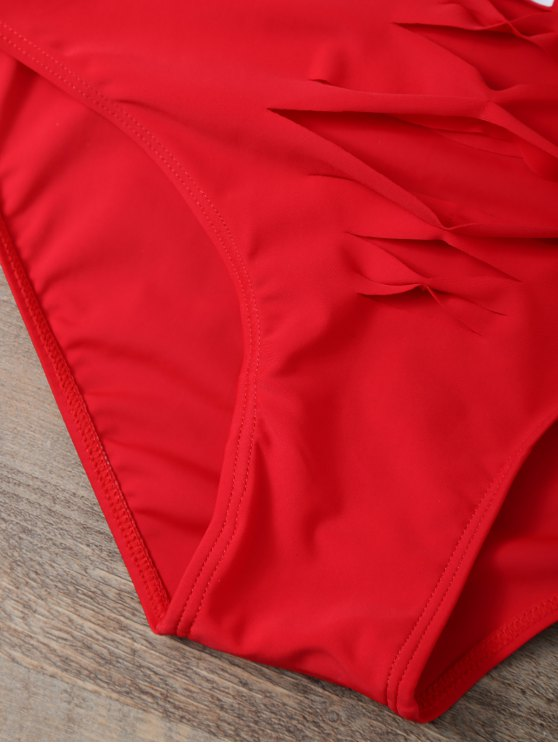 Cut Out Bae Watch Swimwear - RED S Mobile