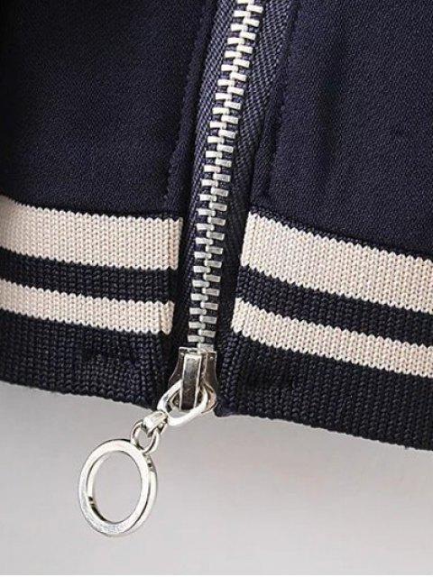 outfits Half Zip High-Low Straight Dress - PURPLISH BLUE M Mobile