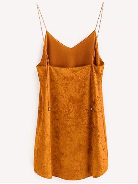 chic Crushed Velvet Cami Dress - CITRUS S Mobile