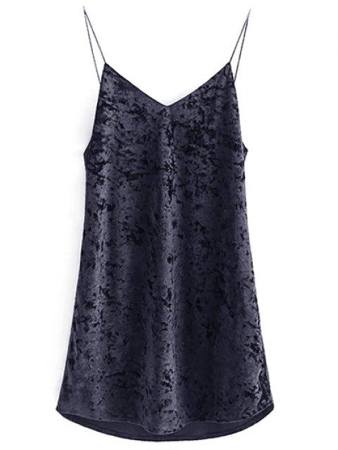 sale Crushed Velvet Cami Dress - BLACK M Mobile
