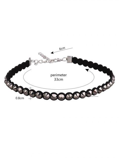 women's Artificial Leather Velvet Vintage Choker Necklace -   Mobile