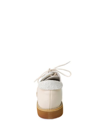 Stitching Tie Up Round Toe Flat Shoes - APRICOT 37 Mobile