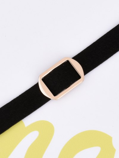 Artificial Leather Velvet Vintage Choker - BLACK  Mobile