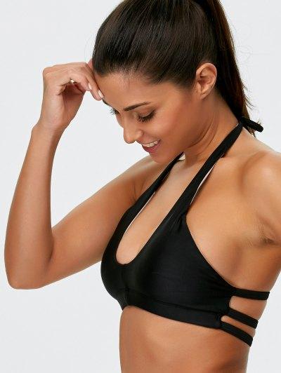 Halter Padded Bikini - BLACK L Mobile