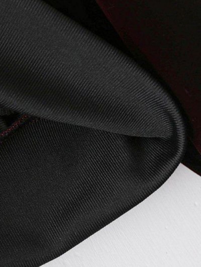 Zip-Up Velvet Souvenir Jacket - BLACK M Mobile
