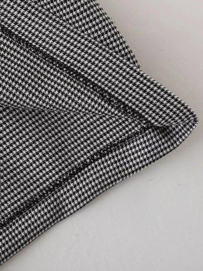 Casual Checked Choker Dress - BLACK L Mobile