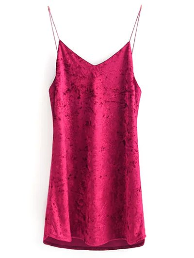 Crushed Velvet Cami Dress - ROSE M Mobile