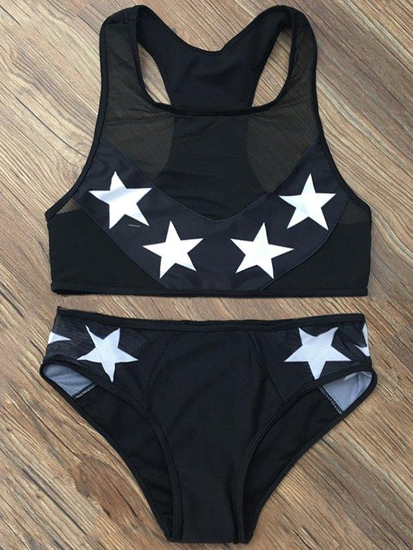 Star Mesh Racerback Bikini Set
