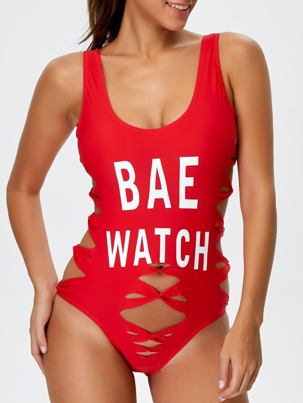 Cut Out Bae Watch Swimwear
