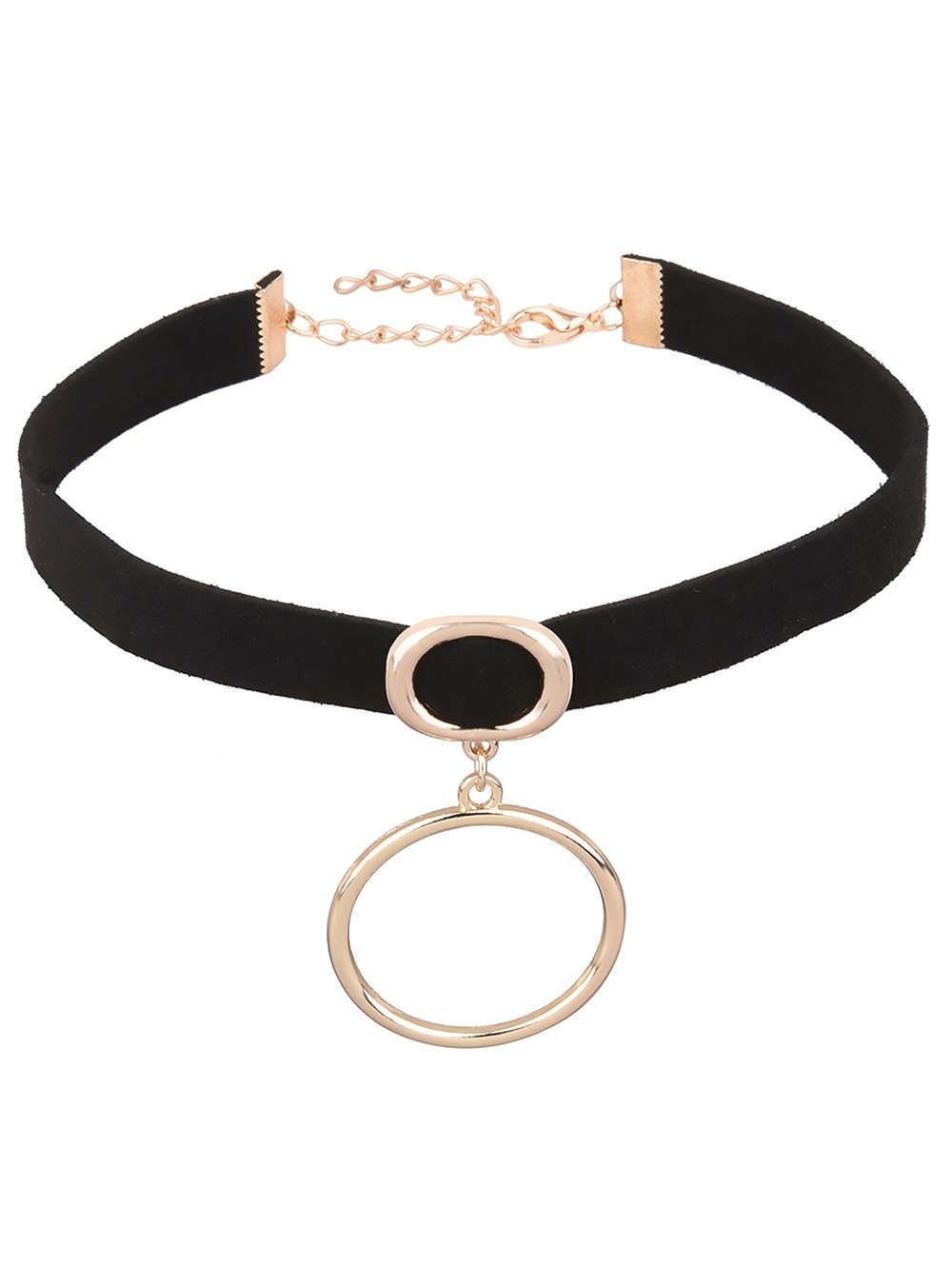 Artificial Leather Velvet Circle Choker