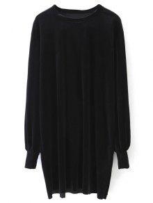 Long Sleeve Velvet Straight Dress