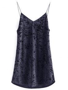 Buy Crushed Velvet Cami Dress S BLACK