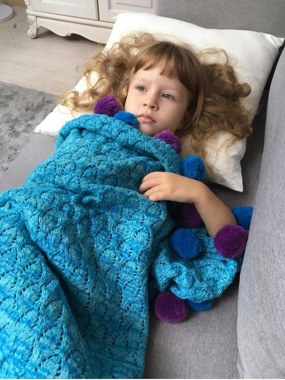 Pineapple Crochet Kids' Mermaid Blanket Throw -   Mobile