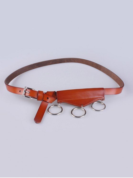 Faux Leather Waist Belt - LIGHT BROWN  Mobile