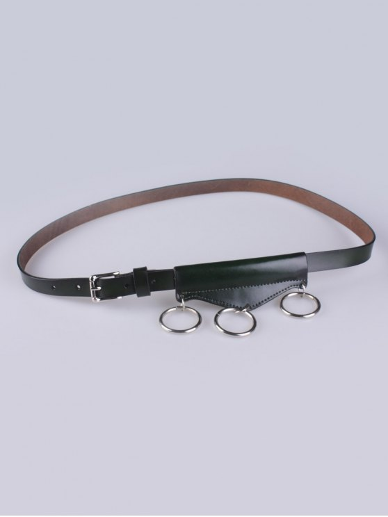 online Faux Leather Waist Belt - ARMY GREEN