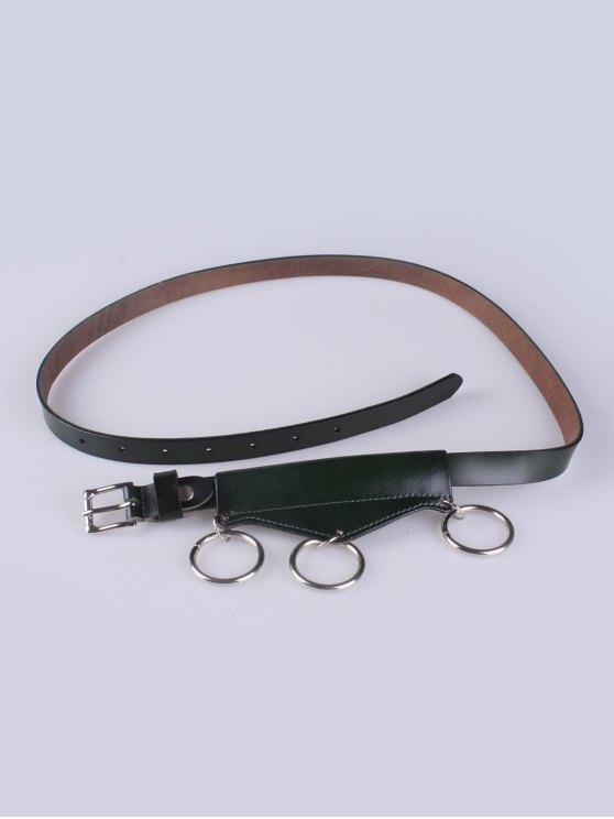 Faux Leather Waist Belt -   Mobile
