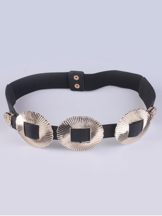 Embellished Elastic Waist Belt - GOLDEN  Mobile