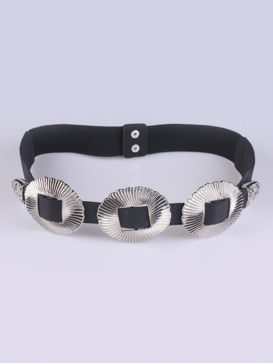 Embellished Elastic Waist Belt - SILVER  Mobile