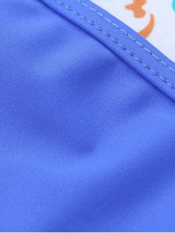 Unlined Cami Bikini - BLUE L Mobile