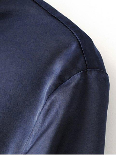 online Satins Formal Shirt - PURPLE S Mobile