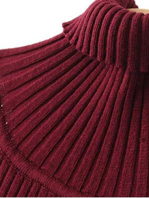fashion Turtleneck Sleeveless Sweater Dress - GREEN ONE SIZE Mobile