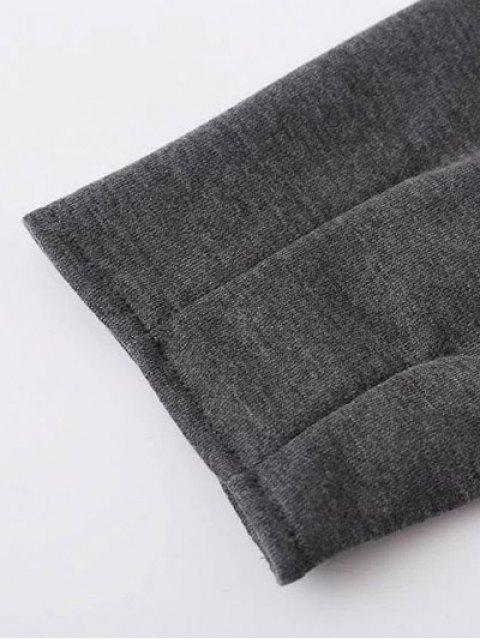 trendy Embroidered Raglan Pullover Sweatshirt - GRAY S Mobile