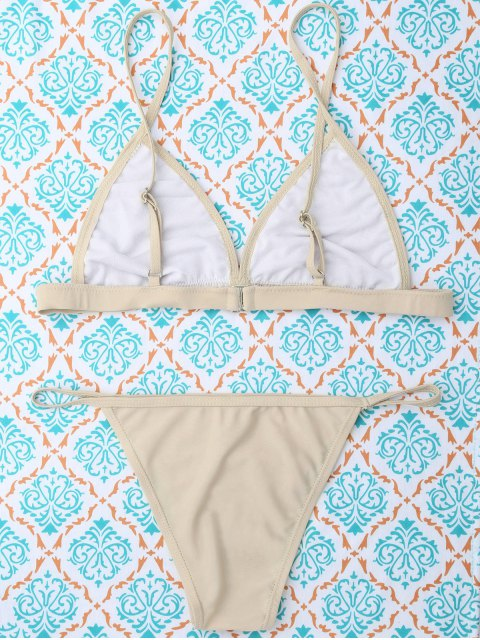 outfits Unlined Cami Bikini - KHAKI S Mobile