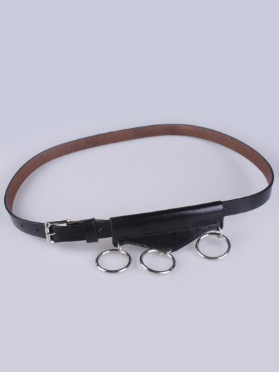 Faux Leather Waist Belt - BLACK  Mobile