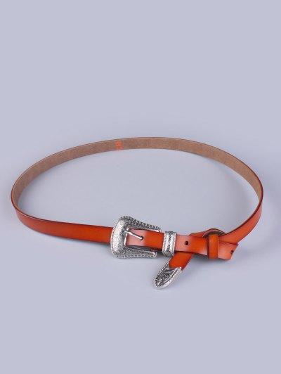 Vintage Pin Buckle Waist Belt - LIGHT BROWN  Mobile