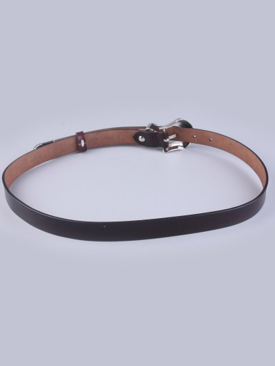 Pin Buckle Vintage Waist Belt - COFFEE  Mobile