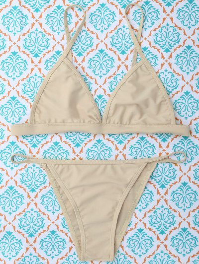 Unlined Cami Bikini - KHAKI S Mobile