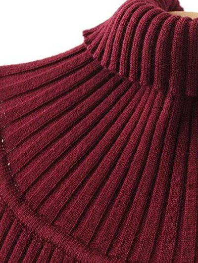 Roll Neck Sleeveless Sweater Dress - BLACK ONE SIZE Mobile