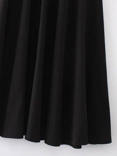Midi Flared Tank Dress - BLACK M Mobile