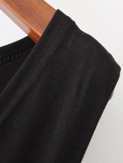 Midi Flared Tank Dress - BLACK L Mobile