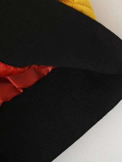 Zip Up Padded Pilot Jacket - BLACK L Mobile