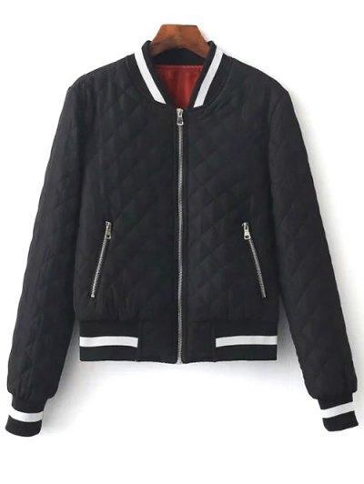 Zip Up Padded Pilot Jacket - BLACK S Mobile