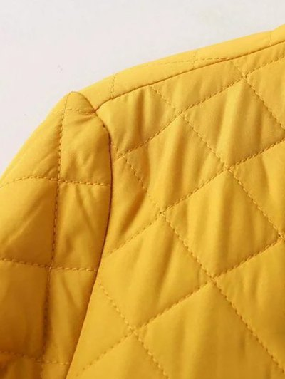 Zip Up Padded Pilot Jacket - YELLOW L Mobile